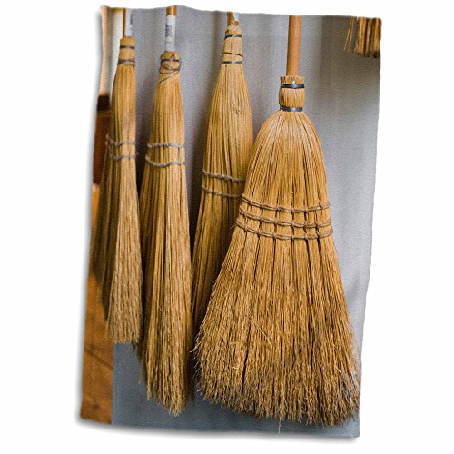 3dRose Danita Delimont – New Hampshire – New Hampshire, Enfield Shaker Museum, Shaker brooms – 12×18 Hand Towel (twl_251203_1)