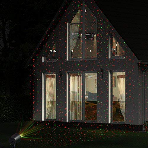 Christmas Laser Lights, Joly Joy Class Ⅲ-A Star Projector with Bonus 14.7 Feet Extension Cord, Light Sensor, 10 Modes IP65 Waterproof, FDA Approved for Christmas, Part and Garden Decoratio by Joly Joy (Image #7)