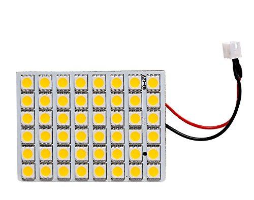 - GRV Ba9s T10 Festoon 48-5050SMD Warm White DC 12V Super Bright RV Car Panel Interior LED light Pack of 2