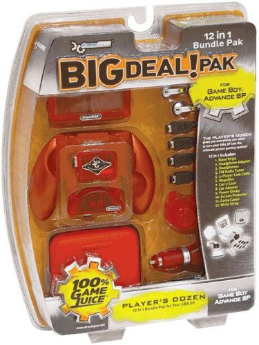 DREAMGEAR GBA SP Big Deal 12-in-1 Bundle Pak - Flame Red - Game Boy Advance