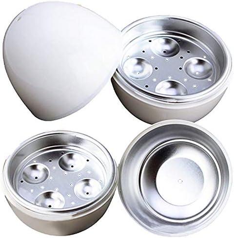 White Ball Shape Microwave 4 Eggs Cooker Hard Boiled Boiler Kitchen Tool