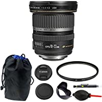 Canon EF-S 10-22mm f/3.5-4.5 USM Lens 77mm Kit for Canon DSLR Camera