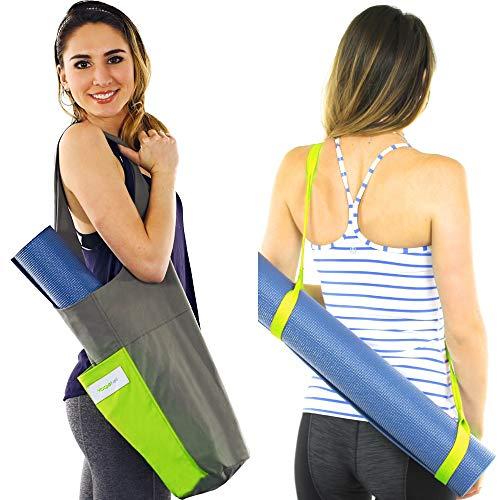 Yoga Mat Bag Carrier + Extra Yoga Mat Strap Holder for Carry