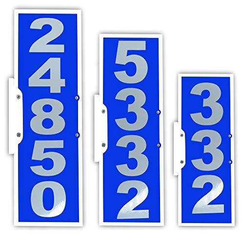 CIT Group 911 Address Sign, Rual Mailbox Address Plaque, 4 & 5 Number, Large Reflective Number, Vertical Mailbox Plaque