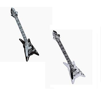 OOTB Guitarra Inflable Rock n Roll en Blanco y Negro ...