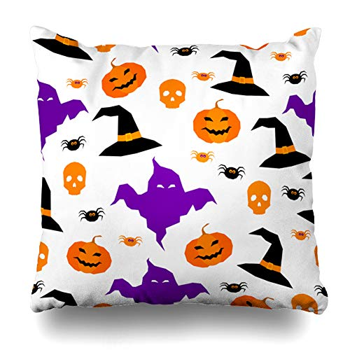 LILALO Throw Pillow Covers, Happy Halloween Abstract Double-Sided Pattern for Sofa Cushion Cover Couch Decoration Home Gift Bed Pillowcase 18x18 inch -