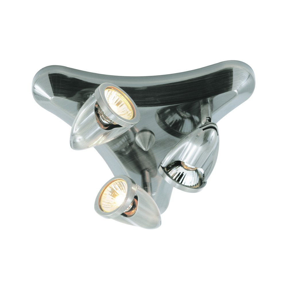 Trans Globe Lighting W-463 BN Indoor Stingray 12.5'' Flushmount  , Brushed Nickel
