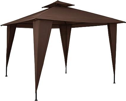 Deuba Pabellón de Jardín cenador Sairee Marrón 3, 5x3, 5m Carpa para Playa Patio Impermeable para Eventos Fiestas Camping: Amazon.es: Jardín