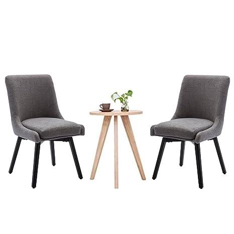 Amazon.com: Andeworld - Juego de 2 sillas de comedor ...