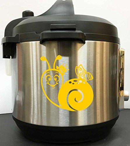 Cute Snail Decal Sticker - Yellow Vinyl Decal Sticker for Instant Pot Instapot Pressure Cooker