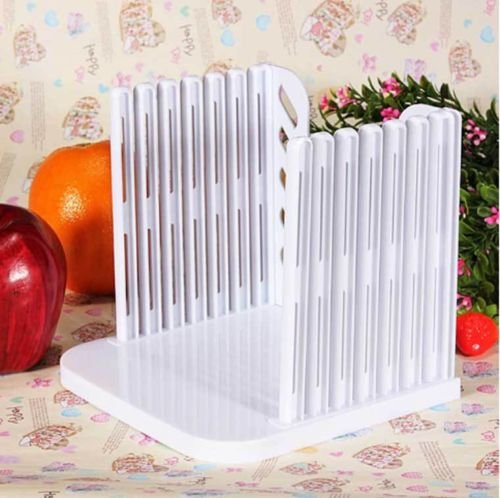 1 X Kitchen Bread Slicer Collapsible Loaf Bagel Cutter Cutting Slicing