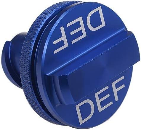 New Easy Grip Design GM/_QY Magnetic Ram Diesel Billet Aluminum Fuel Cap and DEF Cap Combo for 2013-2018 Dodge Ram Truck 1500 2500 3500 with 6.7 Cummins EcoDiesel