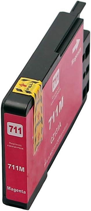 123tintetoner - Cartuchos de Tinta para HP 711 T120 T520, Color Rojo: Amazon.es: Oficina y papelería