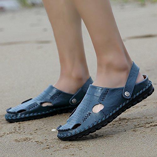 Mode - Männer Strandschuhe Trend Baotou Männer Sandalen,Blau,Eu39