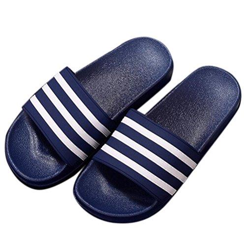 Pantofole Antiscivolo Da Bagno Unisex A Righe Nanxson (tm) Tx0010 Blu Scuro