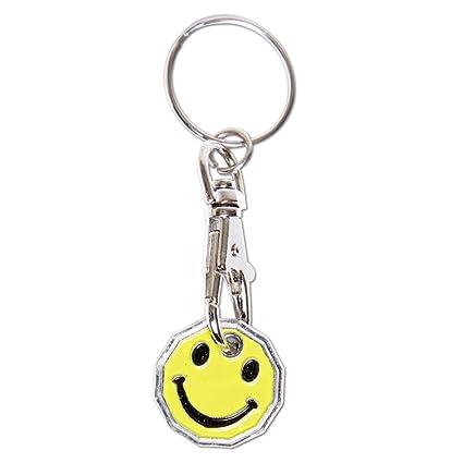 Carro de la compra con emoticono de cara sonriente 2017-18 para monedas falsas,