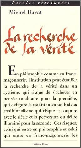 Livres La Recherche de la vérité pdf epub