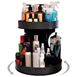 Divas and Professional Stylists will Love This 15'' base Spinning Cosmetic Organizer! 2'' High Sides & Center Dividers Keep Product in Place. Proudly Made in the USA!!! by PPM.