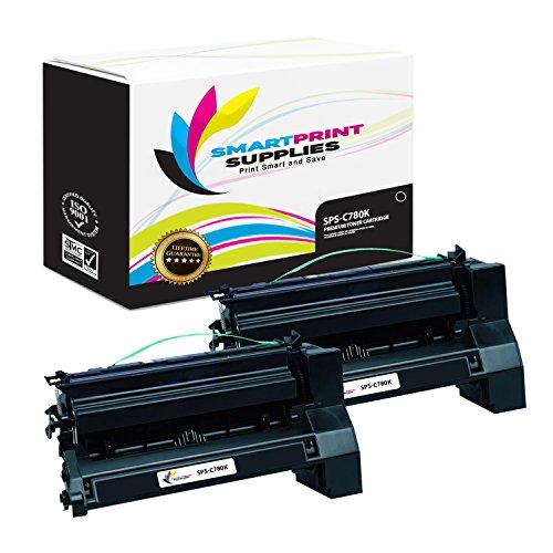 Smart Print Supplies Compatible C780 C782X1KG Black Extra High Yield Toner Cartridge Replacement for Lexmark C770 C772 C780 C782 X780 X782 Printers (15,000 Pages) - 2 - Black C772 Print Cartridge