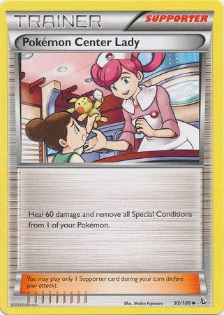 Pokemon - Center Lady (93) - XY Flashfire