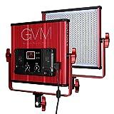GVM LED Video Light 520 CRI97 + & TLCI 97+ 18500lux @ 20 inch Bi-color 3200-5600K for photography Video lighting Studio Interview Portrait Red