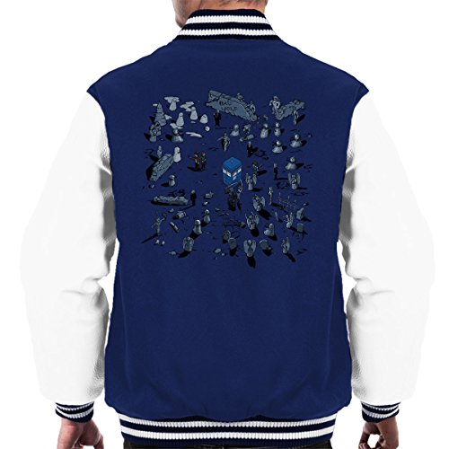 And Men's Time Varsity Jacket Game Who Space Navy Tardis Doctor white Of 08cqBBR6zE