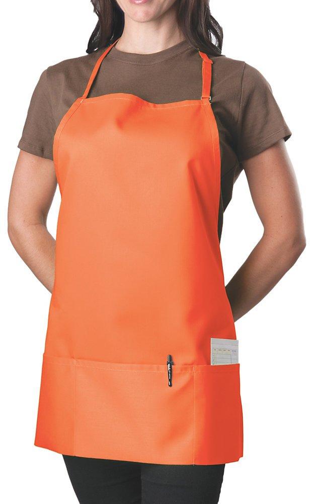 KNG Pack Of 2 - Orange Adjustable Bib Apron - 3 Pocket