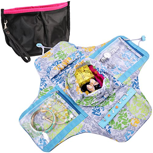 kilofly-Girls-Compact-Folding-Jewelry-Bag-Travel-Organizer-Cosmetic-Pouch-Set