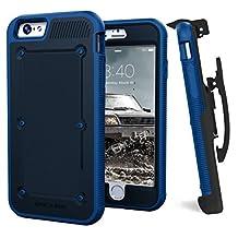 iPhone 6 BallisticSheild Armor Case & Belt Clip - Blue (Quick-release holster design) (by Encased)