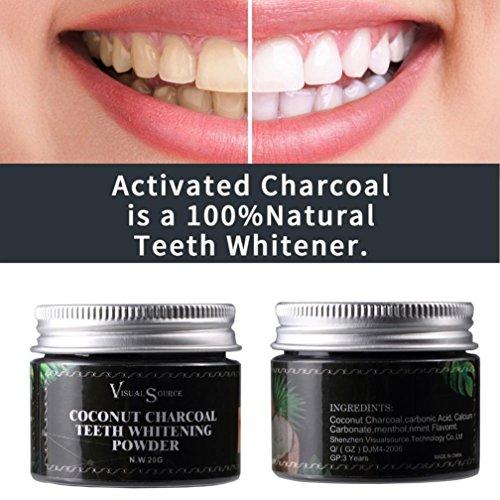 Exteren Herb Coconut Toothpaste Whitening Teeth Remove Halitosis Plaque Dentifrice (Black)