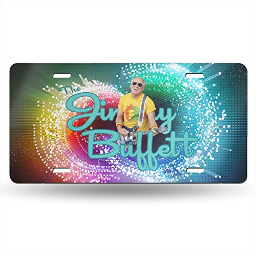 Alberto J Campbell Jimmy Buffett Automotive Metal Front License Plates Decor Decoration,Car Tag for Home Pub Bar Decor - 12 X 6 Inch