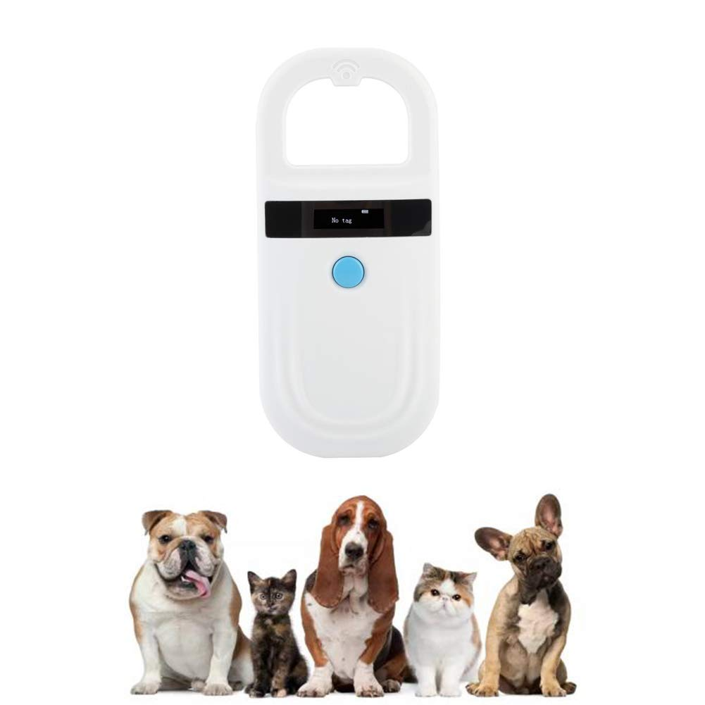 DDZ Rechargeable Animal Microchip Scanner, Pet Microchip Lookup,134.2kHz FDX-B ISO 11784/11785 and EMID RFID Reader with Information Storage for Animal/Pet/Dog/Cat/Pig by DDZ
