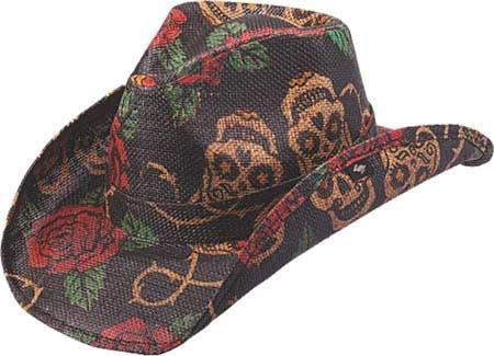 9b322ae2549bf8 Amazon.com: Peter Grimm Ltd Unisex Tainted Love Straw Cowboy Hat Tea ...