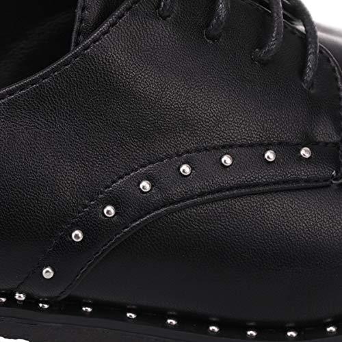 Bout la et de La Clous côtés Le Noir Les à pourtour Chaussure avec Derbies sur Modeuse Rond tOOAxv