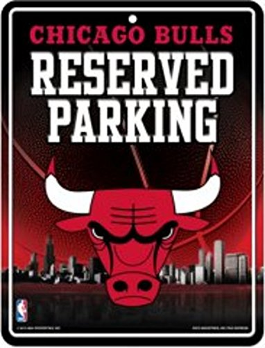 NBA Chicago Bulls 8-Inch by 11-Inch Metal Parking Sign ()