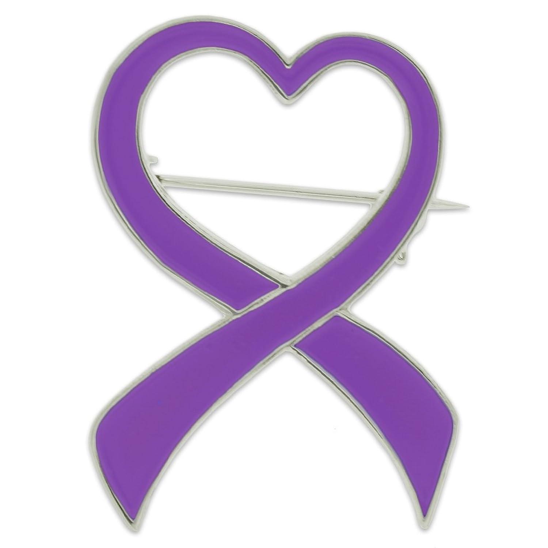 Amazon pinmarts purple heart domestic violence awareness amazon pinmarts purple heart domestic violence awareness ribbon brooch pin jewelry buycottarizona