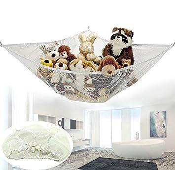imeshbean jumbo toy hammock   organize stuffed animals easy to install fits all d  cor usa amazon    imeshbean jumbo toy hammock   organize stuffed      rh   amazon