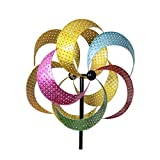 Home & Garden MULTI-COLORED KINETIC PINWHEEL Metal Yard Decor Spinning 12460