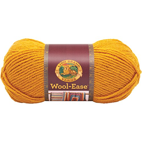 Easy Afghans Knitters - Lion Brand Yarn 620-171 Wool-Ease Yarn, Gold