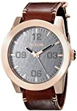 Nixon Corporal A2432001-00. Rose Gold, Gunmetal & Leather Men's Watch (48mm Rose Gold and Gunmetal Watch Face. 24mm Brown Leather Band)