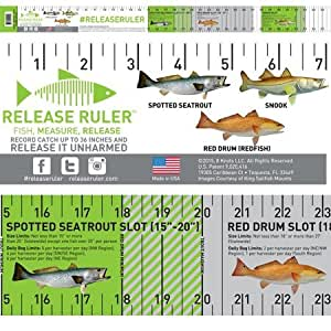 Florida Inshore Slam Release Ruler Decal