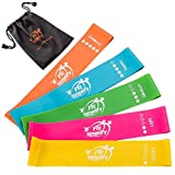 Fit Simplify Resistance 10-inch Loop Bands - Resistance Exercise Bands - Set of 5 Booty Bands - Bonus Instruction Guide, Carry Bag, Ebook and Online Workout Videos
