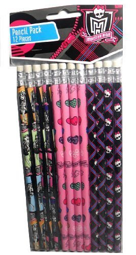 Amscan 12 Monster High Pencils Party Favors ()