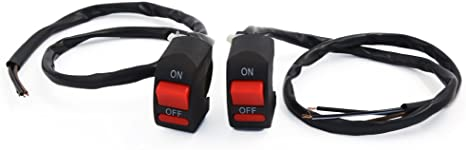uxcell Universal Motorcycle Dual Flashing Warning Switch Button Controller Replacement 10 Pcs
