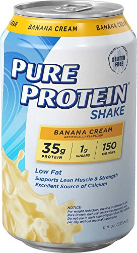 Pure Protein Shake Banana Cream Protein Shakes 35 Grams of Protein per Shake Excellent Source of Calcium 12-11-Ounce (Pure Protein Shake Banana)