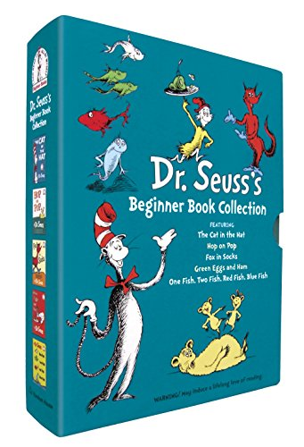 Dr. Seuss's Beginner Book Collection (Cat in the Hat, One Fish Two Fish, Green Eggs and Ham, Hop on Pop, Fox in - Make Box Book