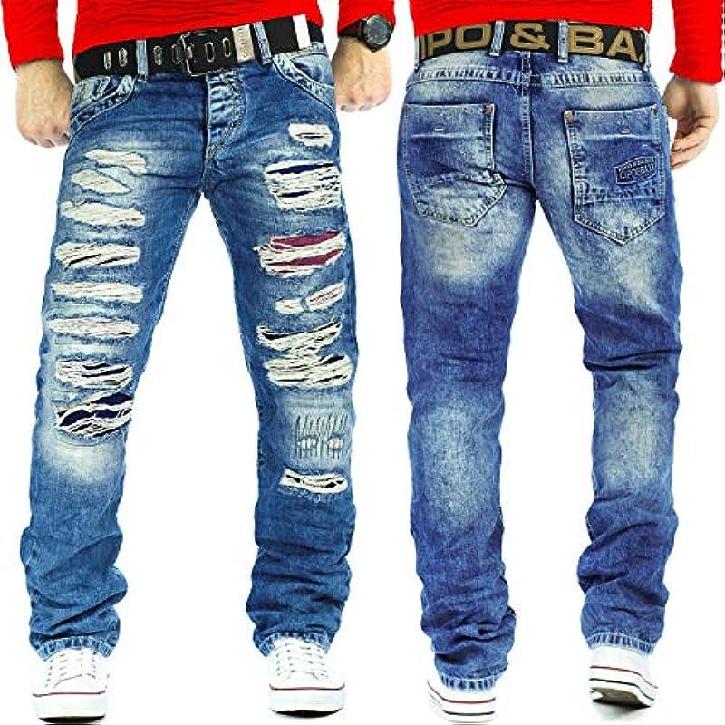 Cipo & Baxx męskie dżinsy z paskiem CD131-bans: Odzież