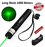 4. Whispex Tactical Green Hunting Rifle Scope Sight Laser Pen, Demo Remote Pen Pointer Projector Travel Outdoor Flashlight, LED Interactive Baton Funny Laser Toy