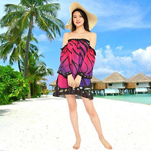 Damen AbendKleid Schmetterling Maxikleid Yogogo Damen Boho Kleider ...
