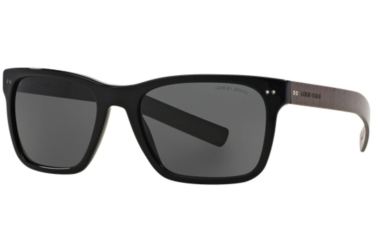 fb850a9a972 Amazon.com  Giorgio Armani AR 8062 5017 87 - Black Grey by Giorgio Armani  for Men - 56-19-145 mm Sunglasses  Shoes
